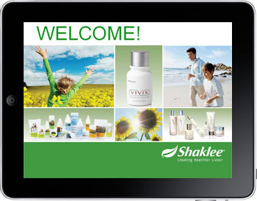 Shaklee Opportunity Presentation on the iPad