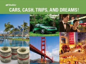 Shaklee Dream Plan: Cars, Cash, Trips, and Dreams