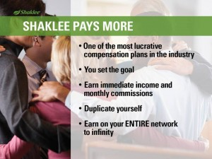 Shaklee Dream Plan: Shaklee Pays More
