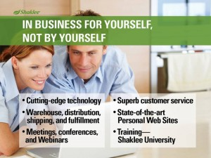 Shaklee Dream Plan: In Business for Yourself, Not by Yourself