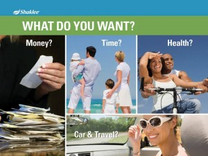 Shaklee Dream Plan: What Do You Want?
