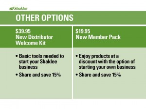 Shaklee Dream Plan: Other Membership Options