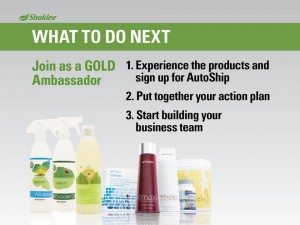 Shaklee Dream Plan: What to do Next