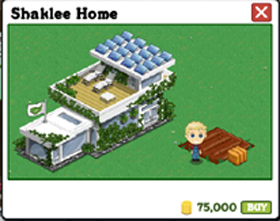 Shaklee Home on FarmVille